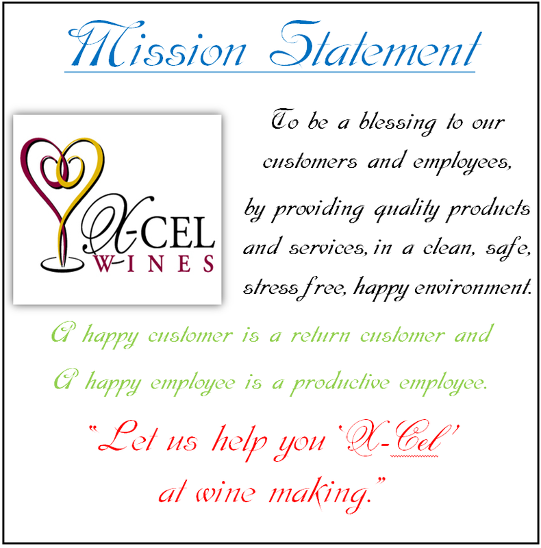 X-Cel Wines Mission Statement